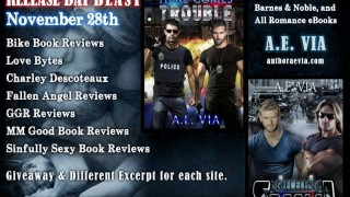 Blog Tour: Exclusive Excerpt & Giveaway A.E Via - Here Comes Trouble
