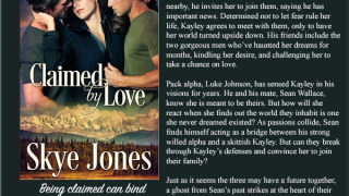 Blog Tour: Interview Questions,Excerpt & Giveaway Skye Jones - Claimed by Love