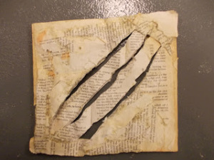 Knifed book