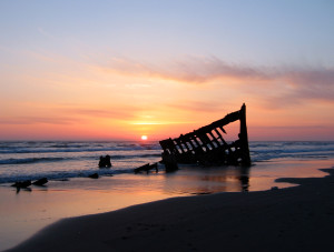 Peter Iredale shipwreck at Fort Stevens