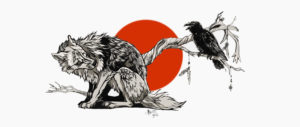 wolf_and_raven_by_marzzpark-d4nzmli