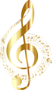 music notes spiral treble clef -1861482
