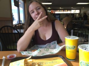 I also introduced her to Nebraska fast food.