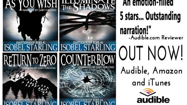 Guestpost & Giveaway: Isobel Starling - The Shatterproof Bond Series Audiobooks