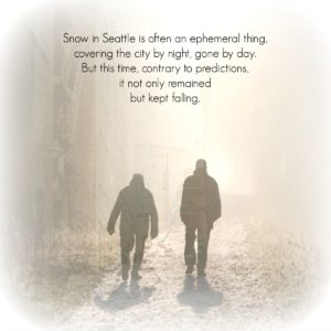 falling snow on snow excerpt graphic ephemeral